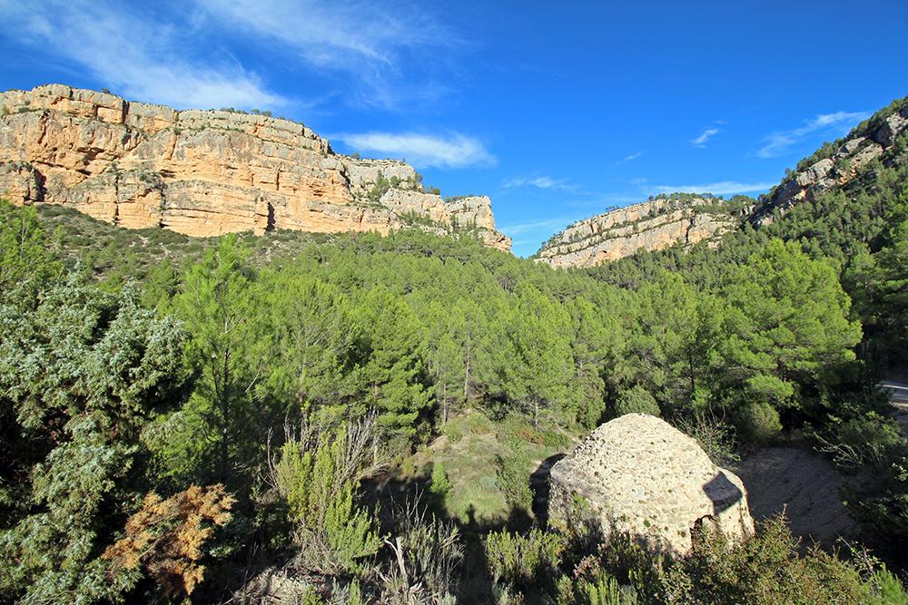 La Rambla Arquela, Beobachtung von Gänsegeiern und natürliches Kühlhaus, Valencia