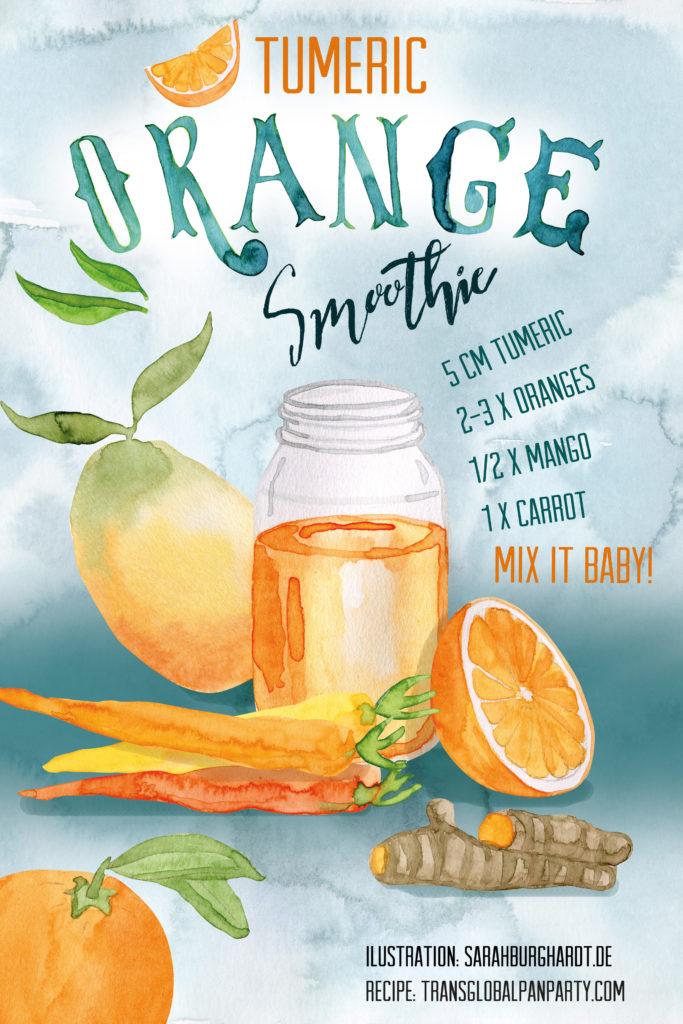 Orangen-Kurkuma-Smoothie