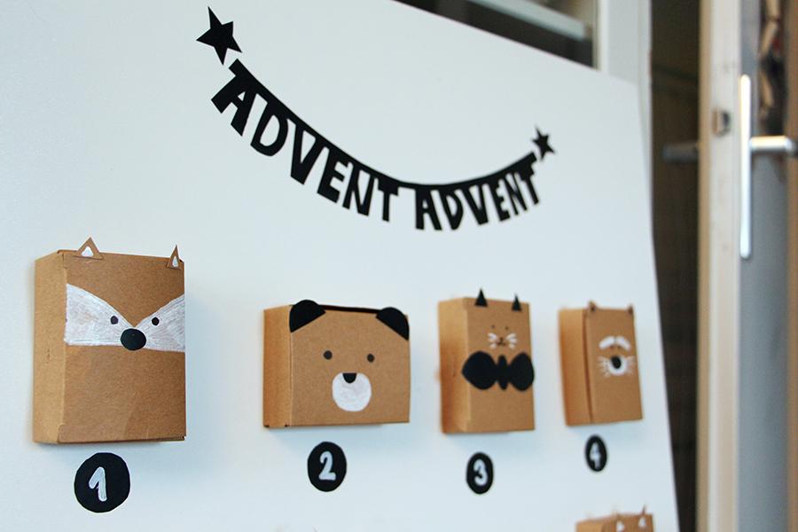 Girlande für selbstgemachten Adventskalender