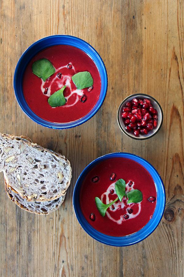 Rote-Bete-Suppe mit Kokosmilch
