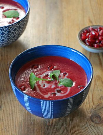 Rezept für Rote-Bete-Suppe mit Kokosmilch