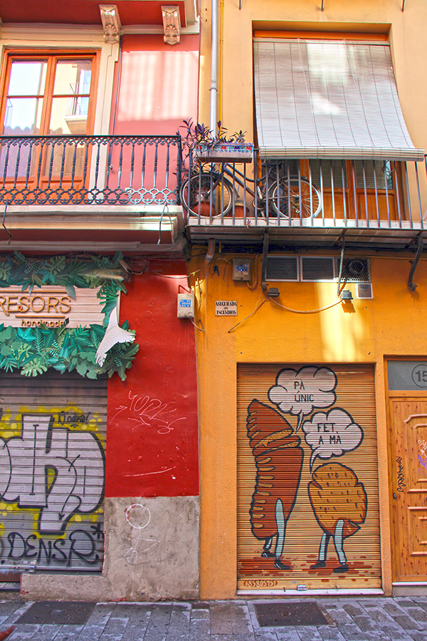 Gassen in der Altstadt von Valencia