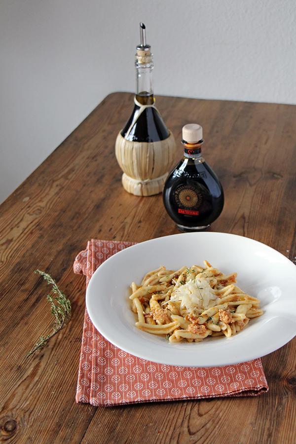 Fusilli Spaccati mit Artischocken-Pesto, vegetarisches Pasta-Gericht