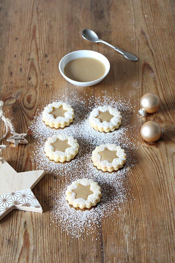 Karamelltaler leckere Plätzchen zu Weihnachten