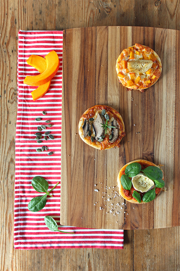 Vegane Minipizzen für Silvester - leckeres Fingerfood Rezept