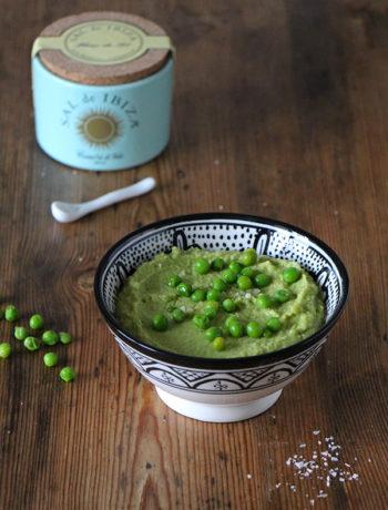 Rezept für Grüne-Erbsen-Hummus