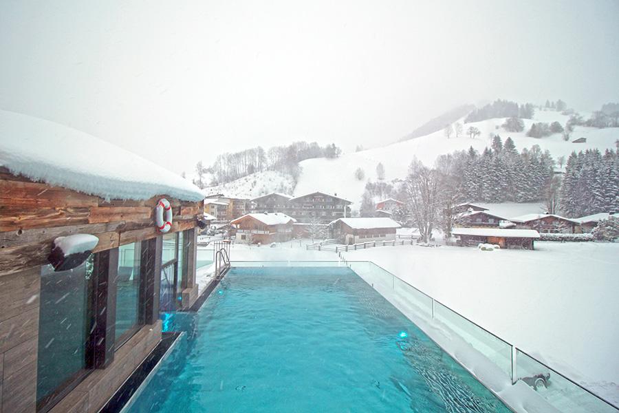 Infinity Pool im Boutique Hotel Sepp, Maria Alm im Salzburger Land