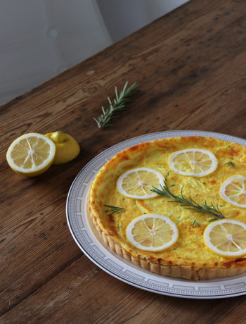 Rezept für Käsekuchen mit Zitrone