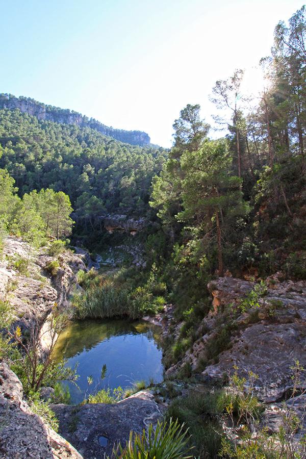 Barranco Moreno Wanderung in einer Schlucht in Spanien