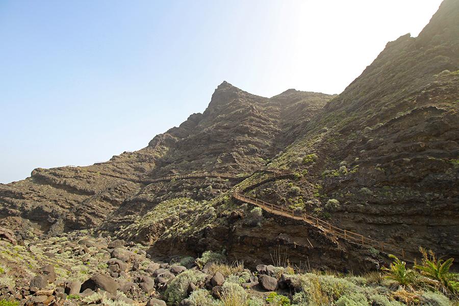 Wandern auf La Gomera in der Nähe von Hermigua