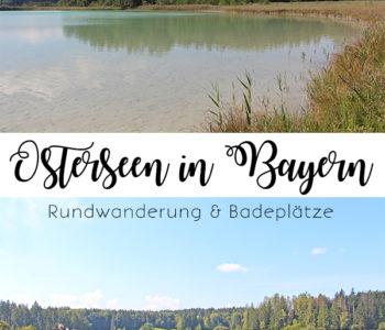 Rundwanderung und Badeplätze an den Osterseen in Bayern