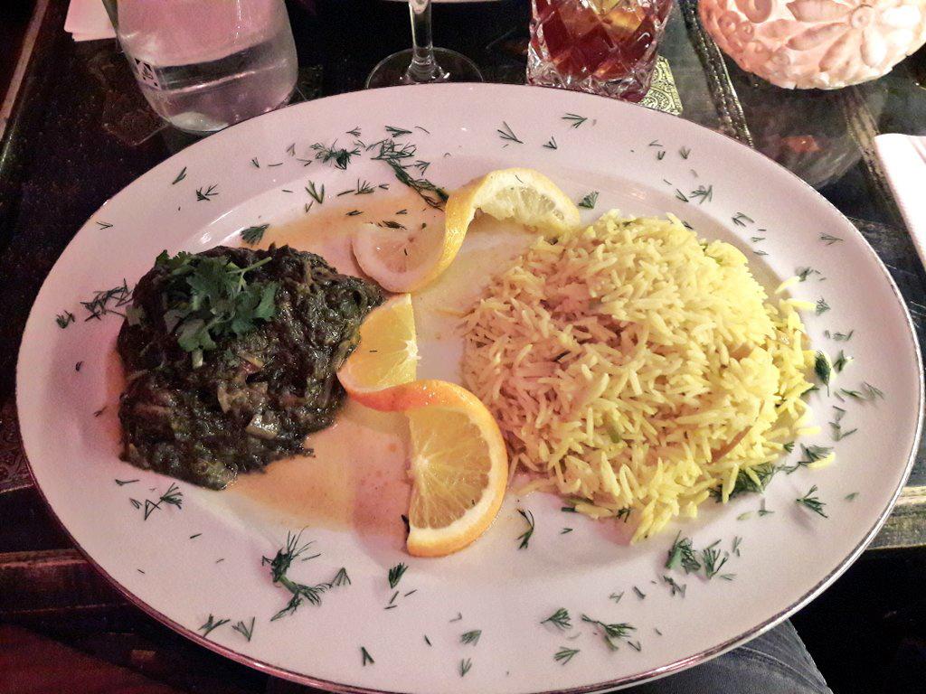 Reis mit Spinat im Bamyan Narges, Muenchen