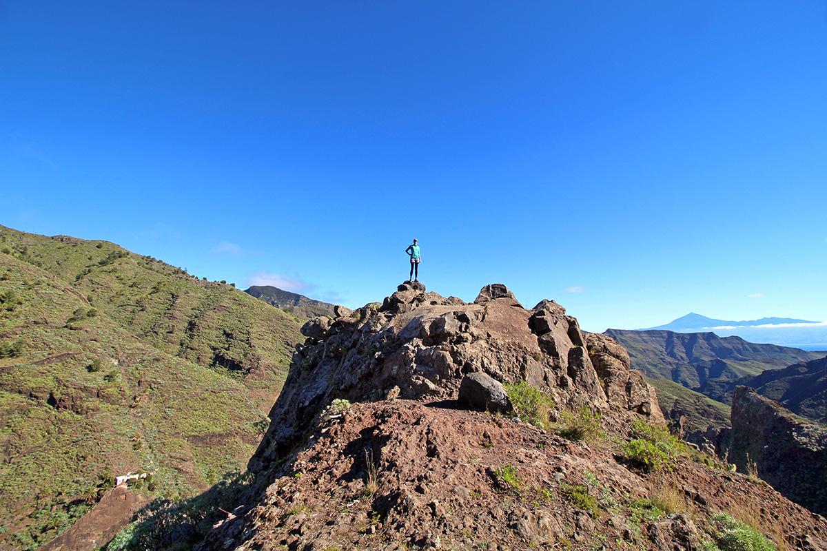 Wanderung mit Aussichtspunkt auf den Teide, La Gomera