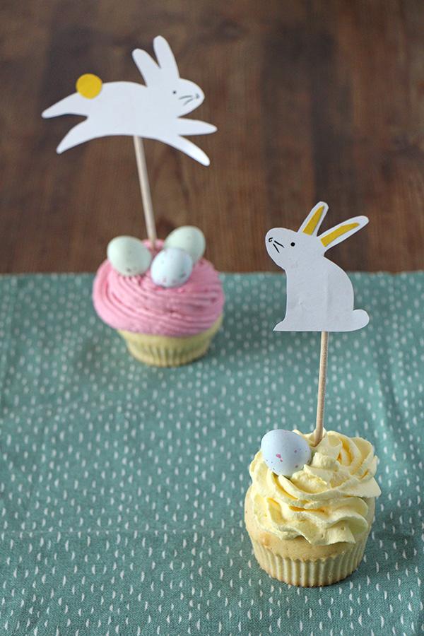Oster-Cupcake mit Osterhasen-Topper