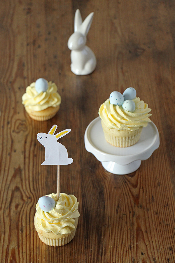 OSTER-CUPCAKES MIT OSTERHASEN-TOPPER DIY