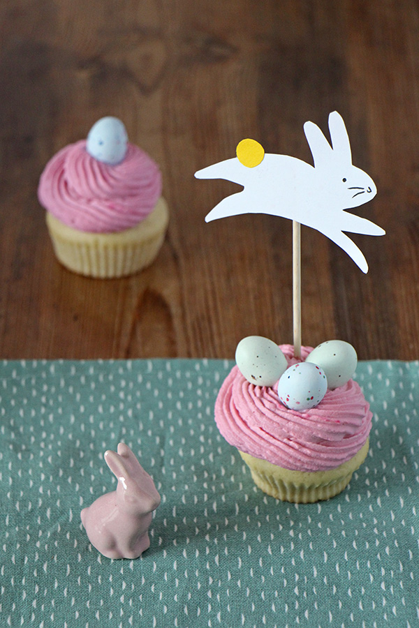 Cupcakes mit Osterhasen-Topper