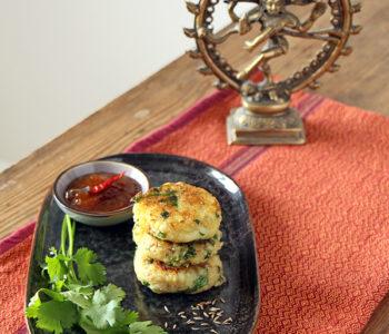 Aloo Tikki - indische Kartoffelpuffer