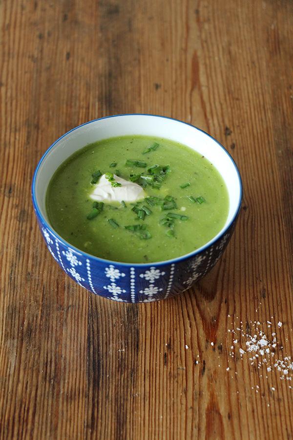 Rezept für Erbsen-Mairüben-Suppe