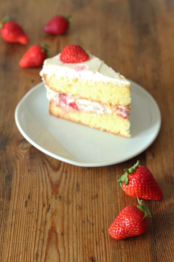 Erdbeeren mit Torte