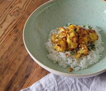 Gerösteter Blumenkohl mit Punjabi-Gewürzen