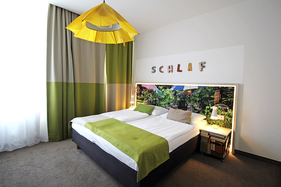 Upcycling_Zimmer im Boutiquehotel Stadthalle