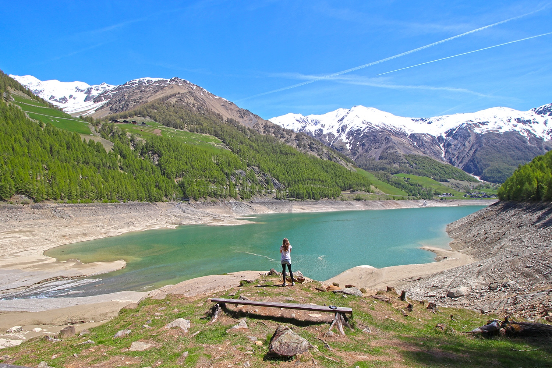 Ela am Vernagt Stausee in Südtirol