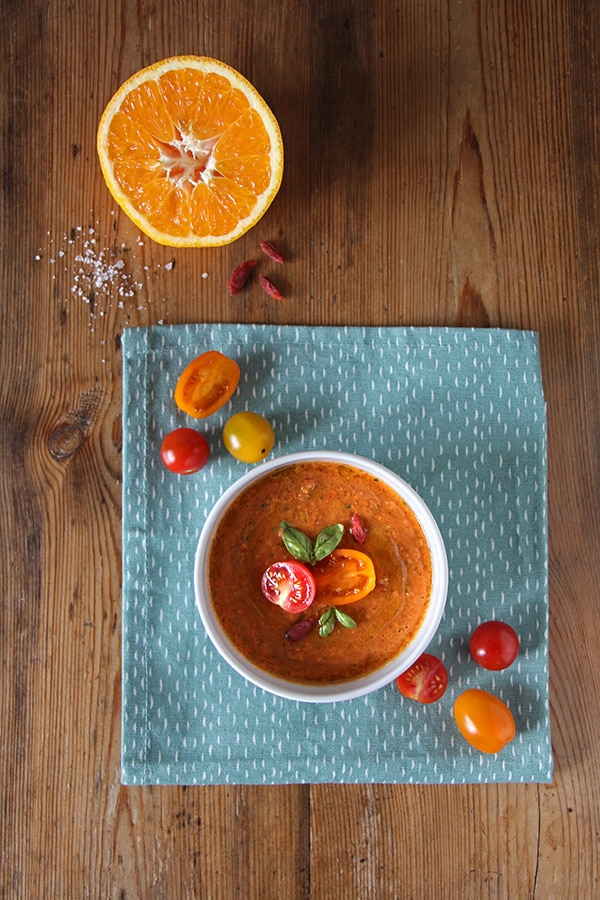 Gazpacho mit Gojibeeren und Orange