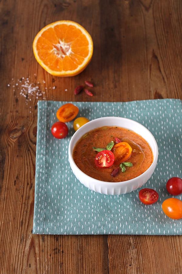 Spanische Tomatensuppe: Gazpacho