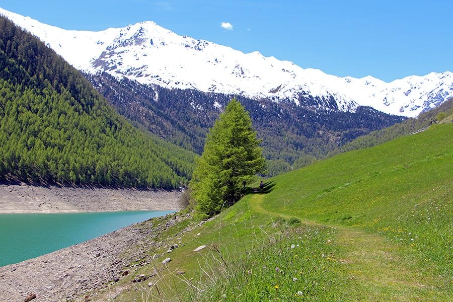 Rundwanderweg Vernagt Stausee in Südtirol