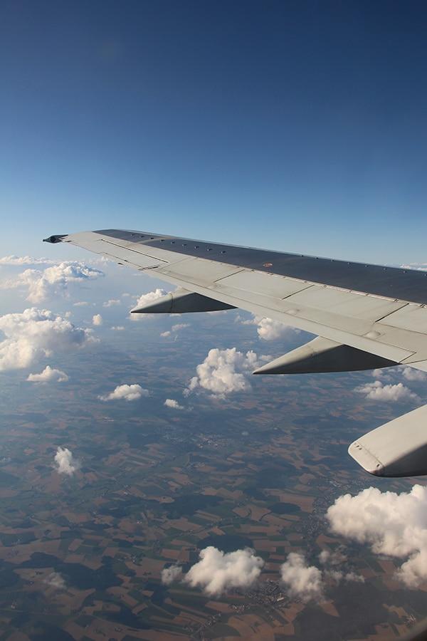 Blue Air über den Wolken