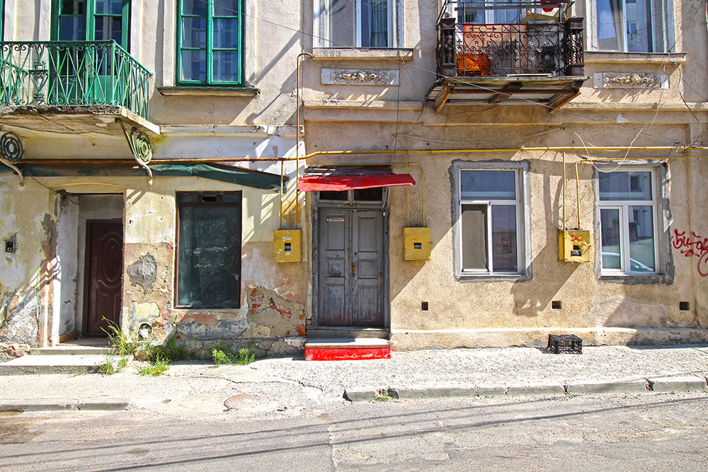 Altbau Gebäude in Iasi, Rumänien