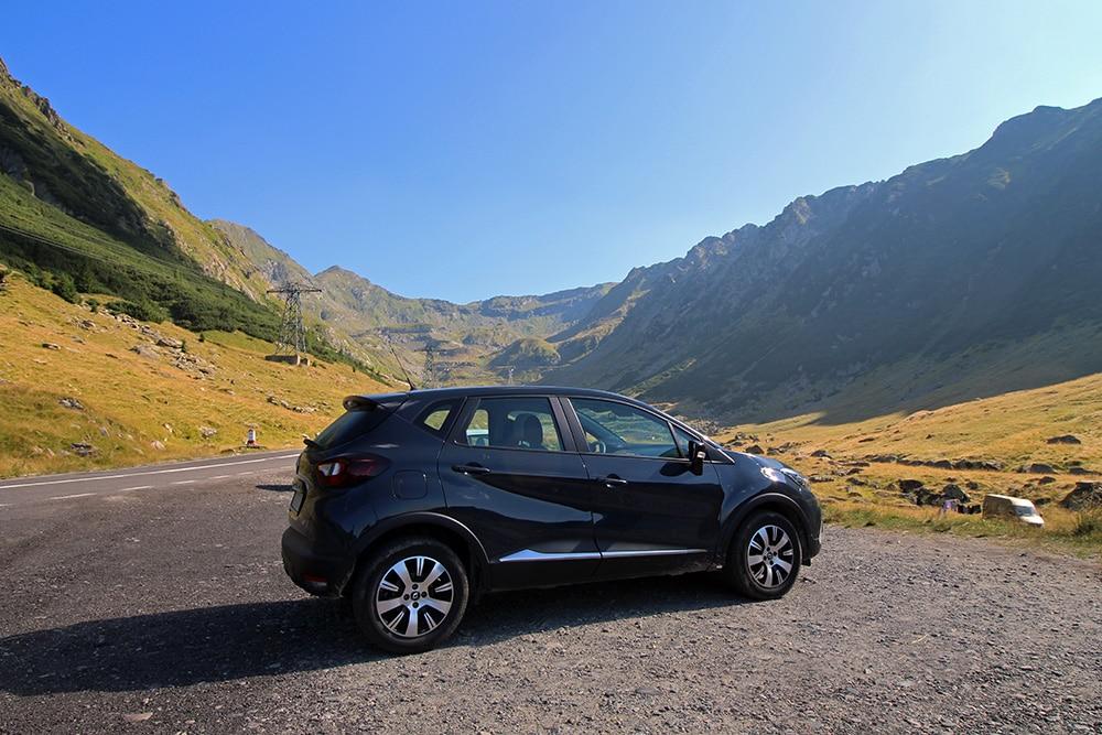 Roadtrip in Rumänien. Mietauto Renault Captur