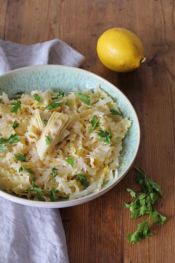 Mafaldine al limone - Pasta mit Zitronensauce - Transglobal Pan Party
