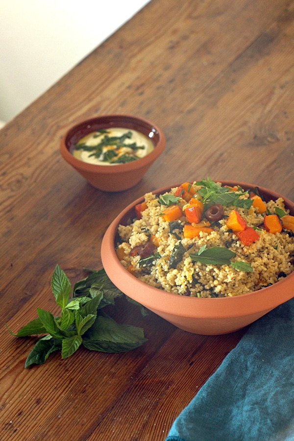 Marokkanischer Couscous-Salat mit Kürbis
