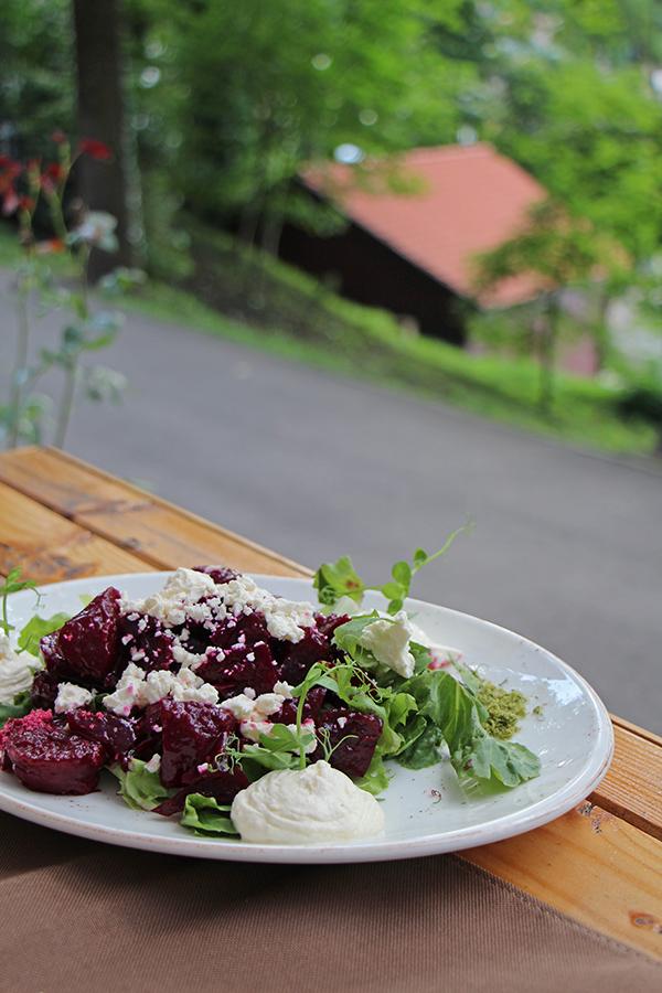 Rote Bete Salat mit Meerrettich bei sub tampa in Brasov