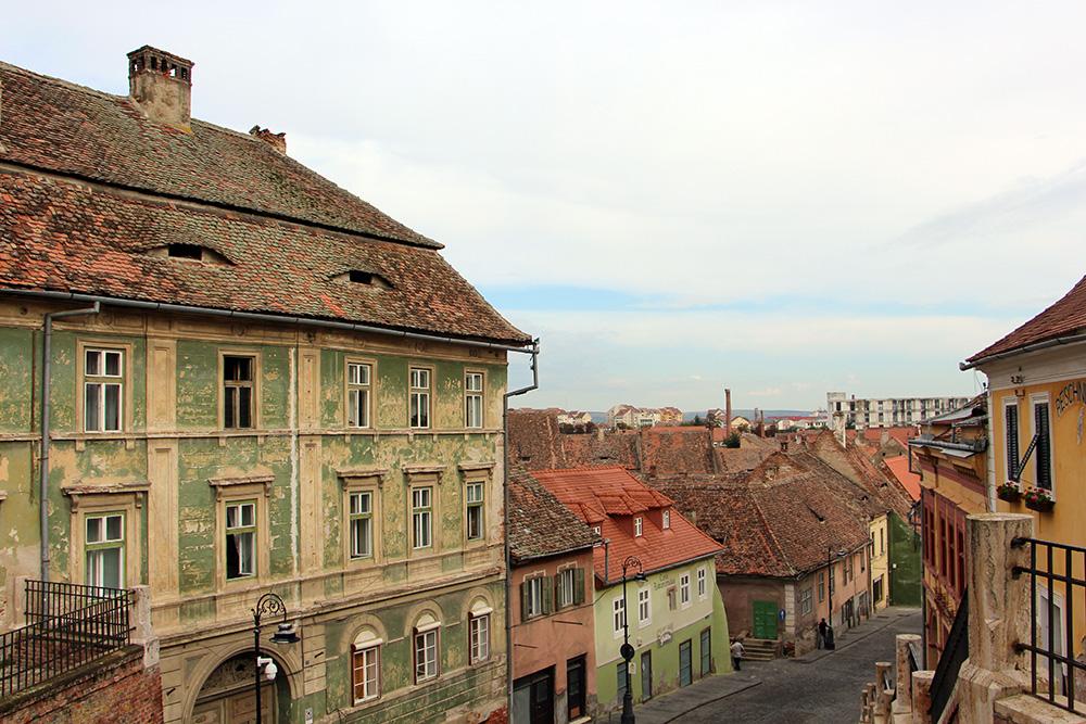 Sibiu - Aussicht von der Lügenbrücke