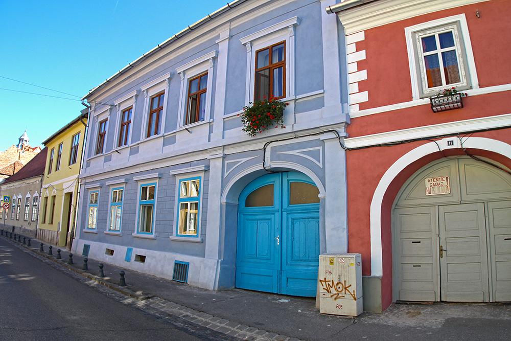 Bunte Häuser in Sibiu