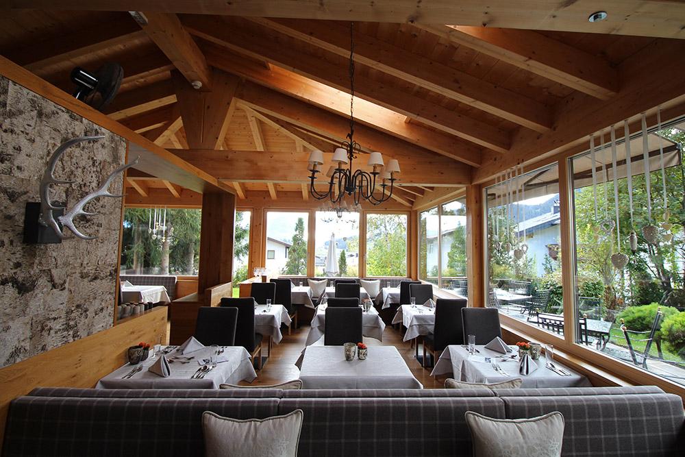 Restaurant im Hotel Chesa Monte
