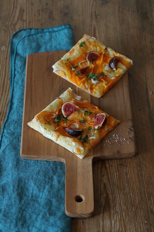 Kürbis-Tarte mit Feigen Rezept