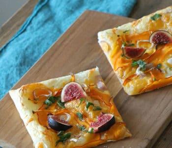 Kürbis-Tarte mit Feigen, vegetarisches oder veganes Rezept
