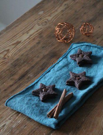 Schoko-Sterne mit Nougatfüllung