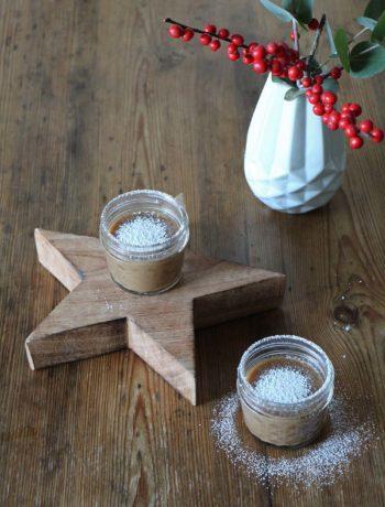 Veganer Spekulatius-Pudding als Weihnachtsdessert