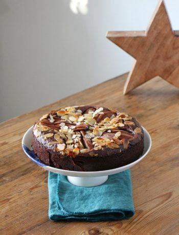 Birnen-Brownie-Kuchen