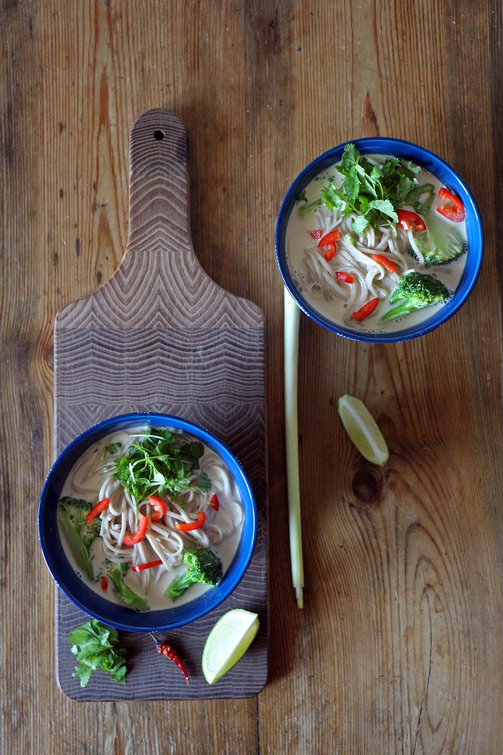 Tom Khai Gai- vegane Thai-Suppe mit Kokosmilch