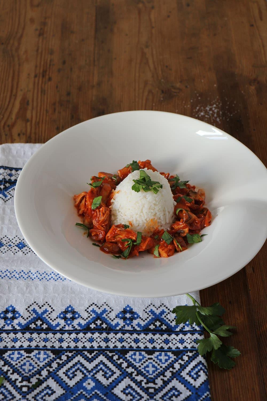Gulasch ohne Fleisch - Rezept für Pilzgulasch