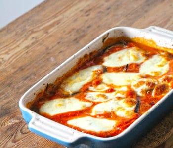 Melanzane alla parmigiana - italienischer Auberginenauflauf - Rezept