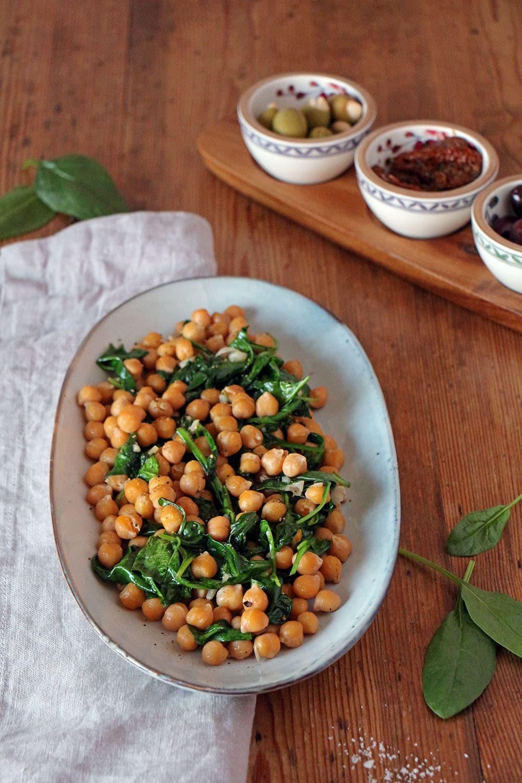 Kichererbsen mit Spinat - Tapas spanisch und vegan
