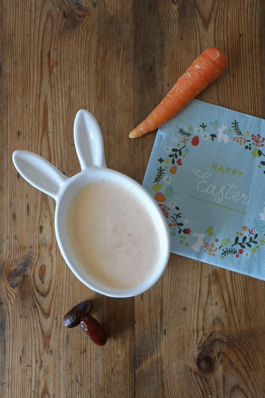 Karotten-Dattel-Dip oder Aufstrich, vegan