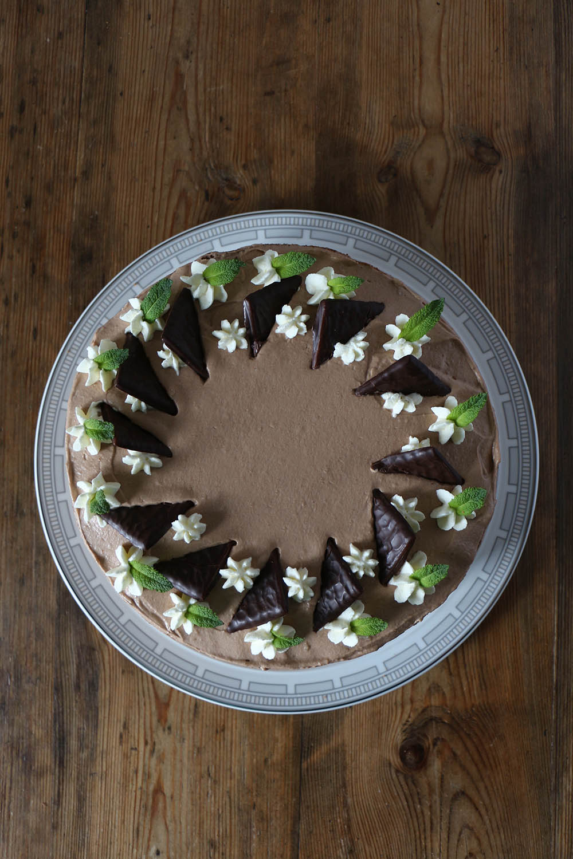 After Eight Torte - Rezept für Schokoladen Minz Kuchen
