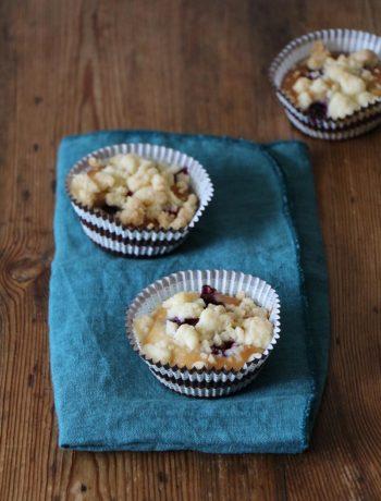 Rezept für Blaubeer-Muffins mit Streuseln